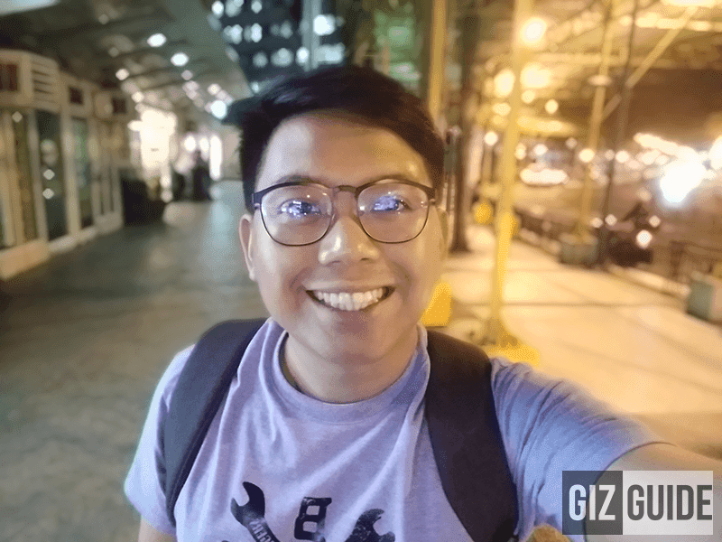 Selfie lowlight with bokeh mode