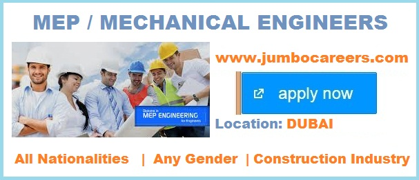 Mechanical Engineer jobs in Dubai March-April 2018