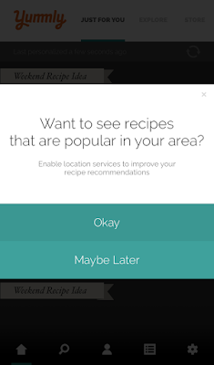A pop-up for location access permission