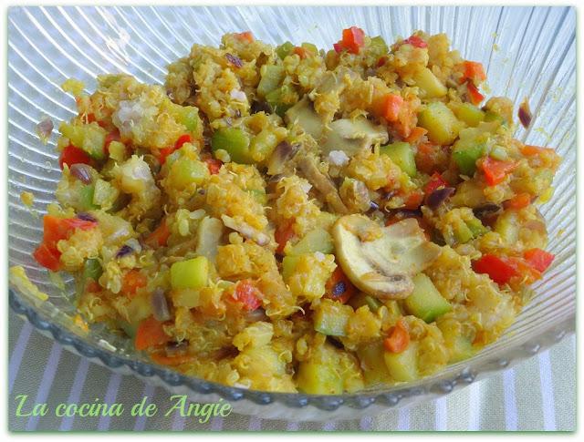 Salteado De Quinoa Y Verduras