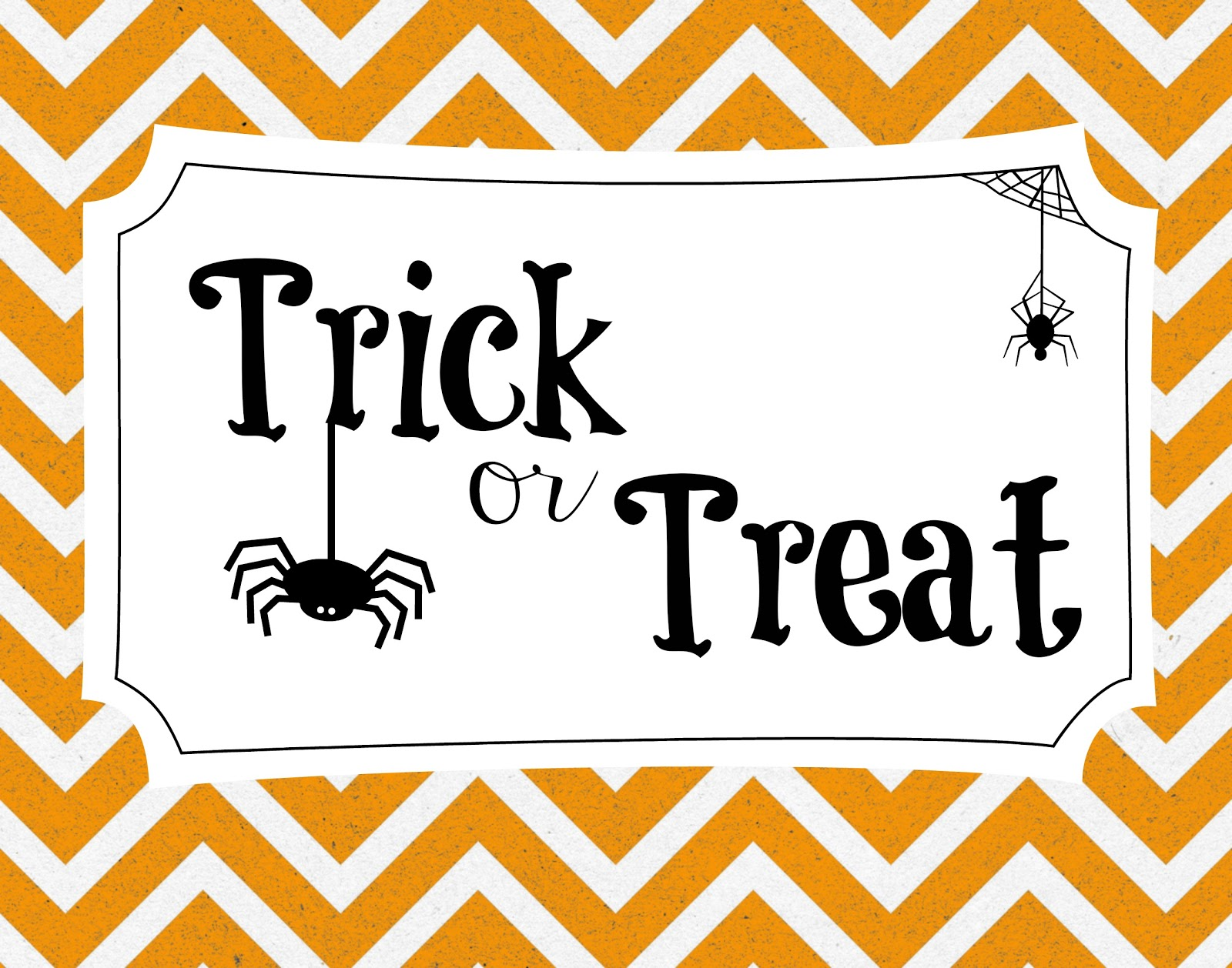 Free Chevron Halloween Printables