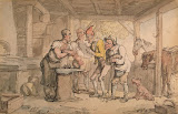 Smithy by Thomas Rowlandson - Genre Drawings from Hermitage Museum
