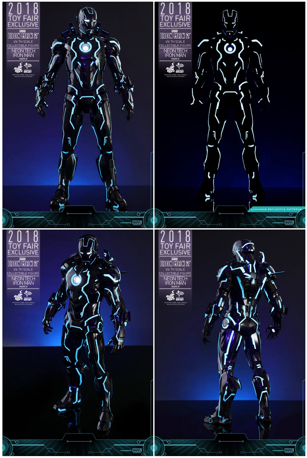 Neon Tech Iron Man Mark Iv 1 6 Collectible Figure From Hot Toys Suit Schematics Continued Crafted With Phenomenal Details That Astonish Fans Its High Level Of Authenticity The Over 32cm Tall Diecast