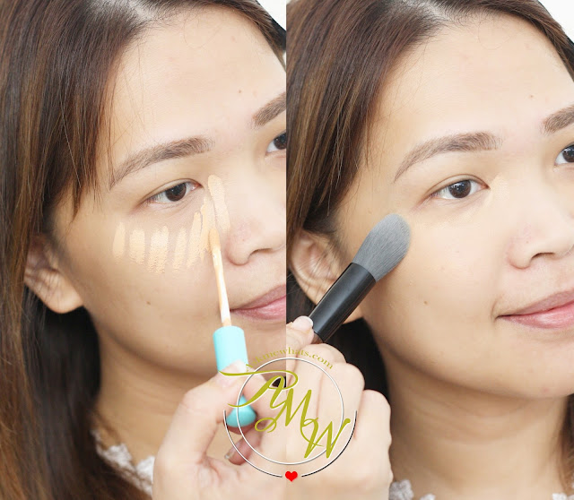a photo on how to use Happy Skin Bye Bye Blues Brightening Concealer Medium