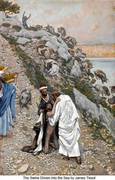 """Swine Driven Into the Sea"" by James Tissot"