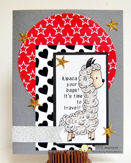 card using llama digital stamp set