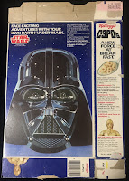 Kellogg's C-3PO's Cereal Box Darth Vader  Mask