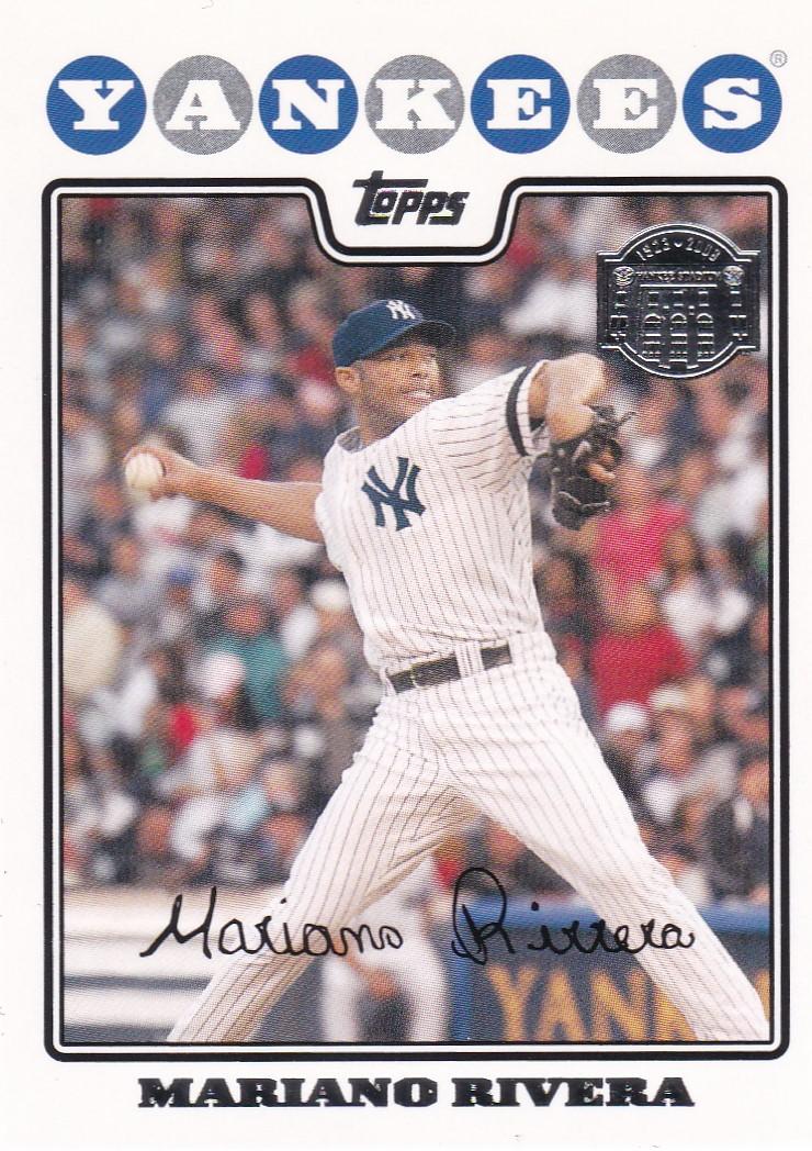 2008 Topps Yankees Yankee Stadium Mariano Rivera New York Yankees