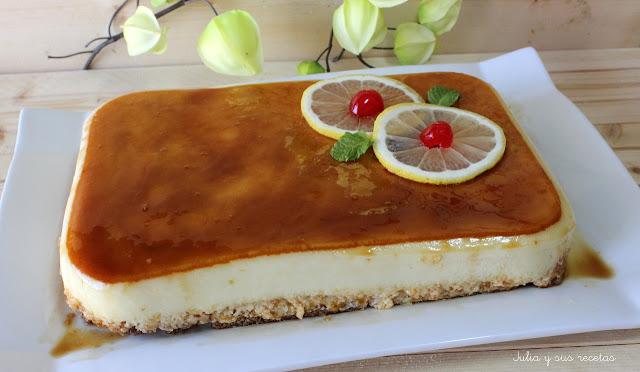 Tarta de limón fría . Julia y sus recetas