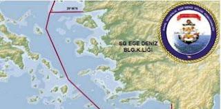 """Οι τουρκικοί χάρτες της Διοίκησης Ασφάλειας Ακτών που """"χωρίζουν"""" το Αιγαίο στη μέση!"""