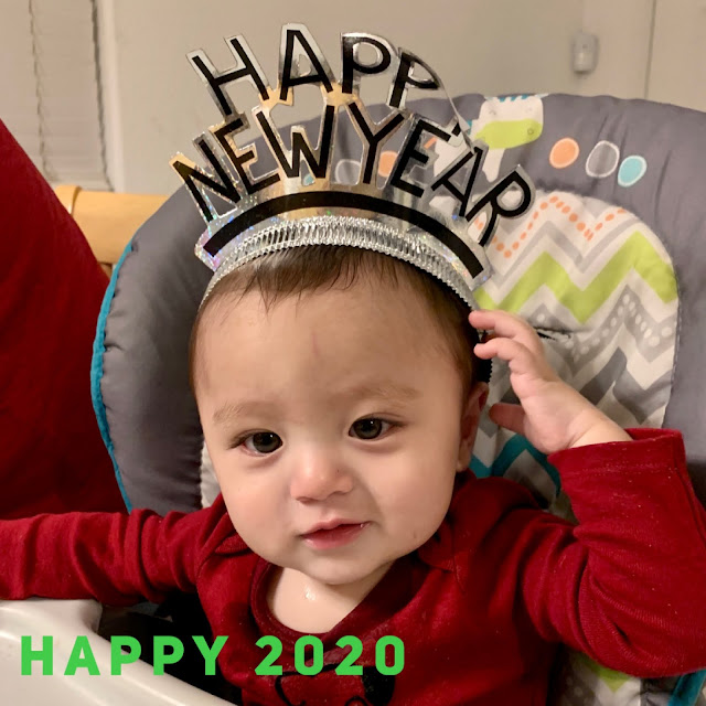 baby boy with Happy New Year Head band