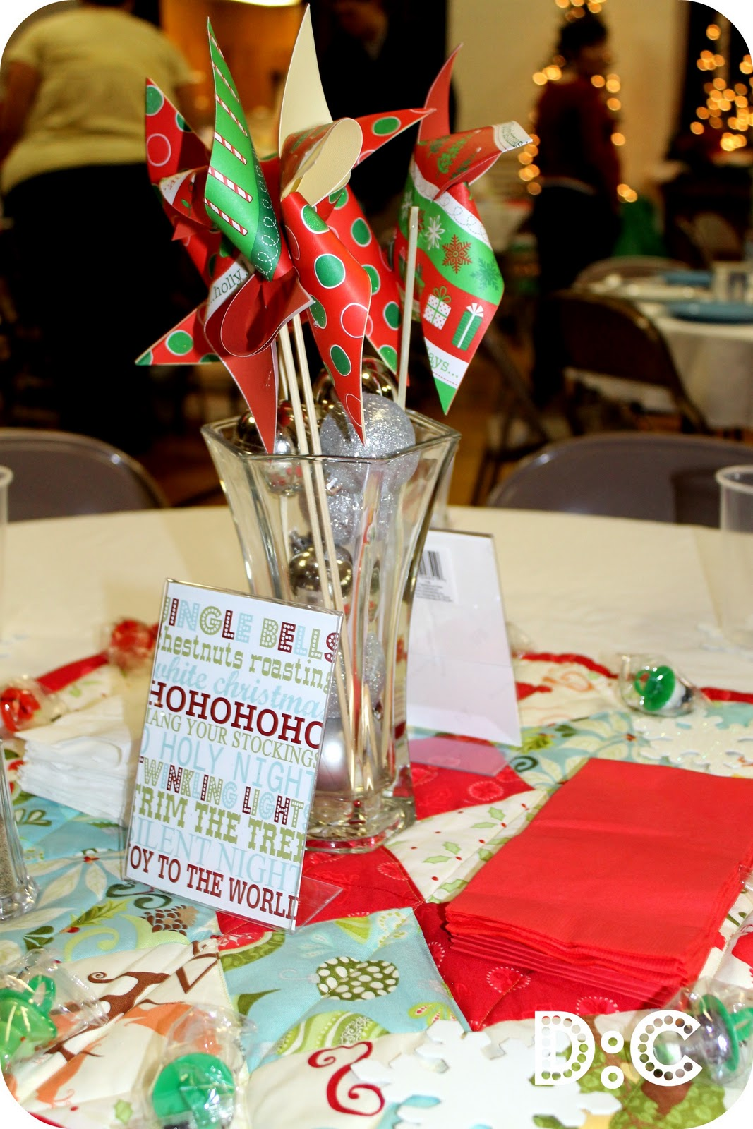 Christmas Party Table Decor Part 2