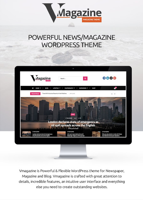 Vmagazine - Blog and Magazine WordPress Themes