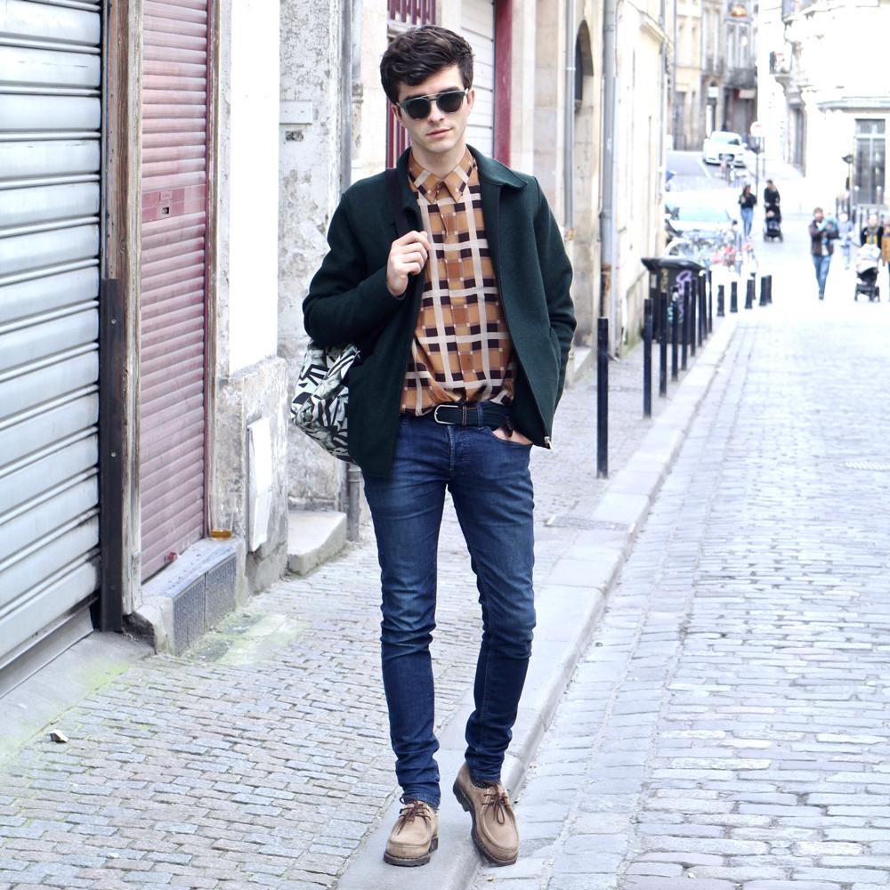 blog-mode-style-homme-paris-bordeaux-lunettes-de-soleil-vertes-afflelou-chemise-soie-givenchy-men-chaussures-michael-paraboot-veste-harris-wharf-london