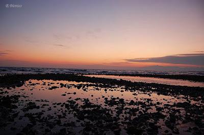 Playa de Cambrils (Tarragona) a atardecer