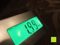 Anzeige: Tragbare elektronische Waage Gepäckwaage silber