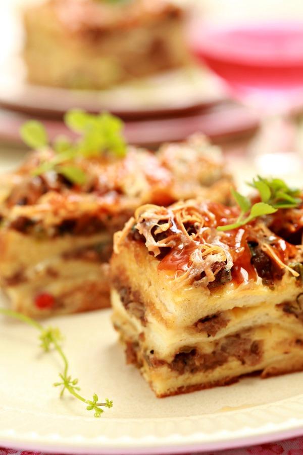 roti lapis daging berkeju mudah ringkas  sedap masam manis Resepi Roti Farina Enak dan Mudah