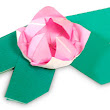 Flowers Origami: Water lily ~ Paper Origami Folding Diagram