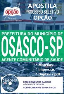 Apostila Processo Seletivo da Prefeitura de Osasco - Agente Comunitário de Saúde
