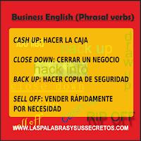 Phrasal verbs más usados en Business English, Business English, Inglés, Phrasal Verbs, Aprender Inglés, Aprende Inglés, Inglés Fácil