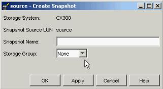 EMC Clariion Storage Procedure for Creating Snapshot
