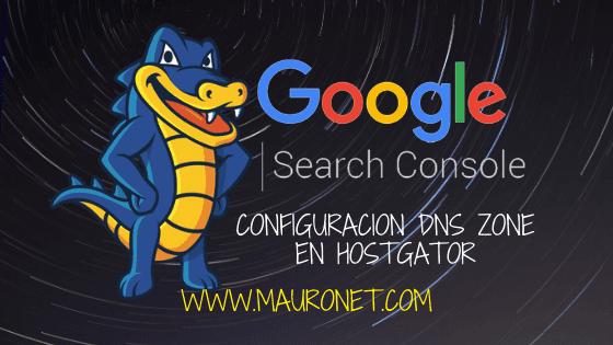 cofiguracion google search console en plataforma hostgator
