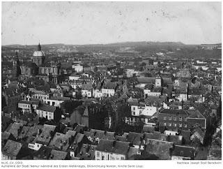 Namur 1914-1918, Blick von der Festung in Richtung Norden, Kirche Saint Loup; Nachlass Joseph Stoll Bensheim, Stoll-Berberich 2016
