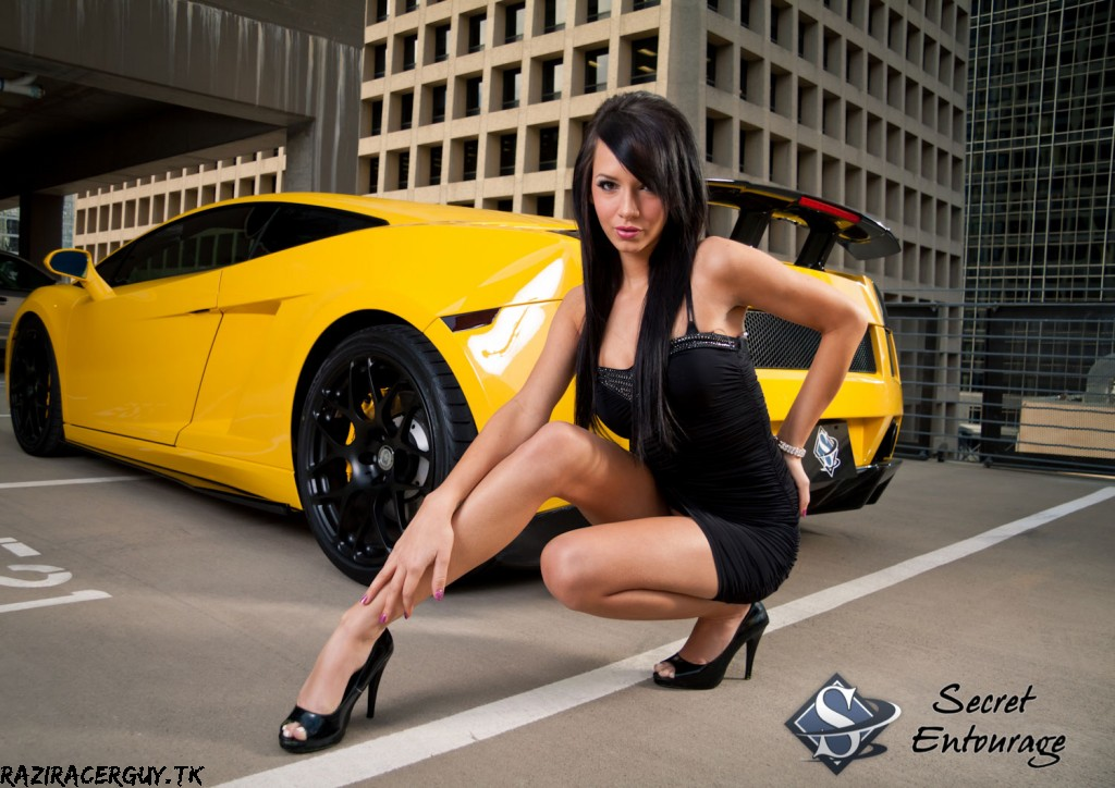 cars and girls yellow tuned lamborghini gallardo and ellis sport cars. Black Bedroom Furniture Sets. Home Design Ideas