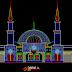مشروع مسجد بوجنقورو بماليزيا اتوكاد dwg Plan Autocad dun Mosquée