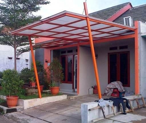 Kanopi depan rumah minimalis Type 30