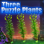 Games4King Three Puzzle Plants Escape Walkthrough