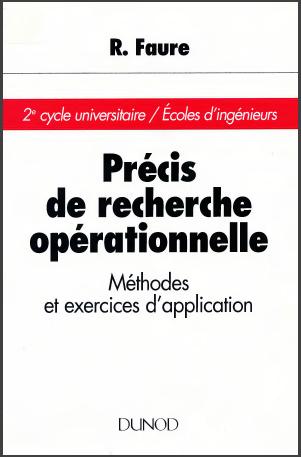 Livre : Précis de recherche opérationnelle - Méthodes et exercices, Gratuit