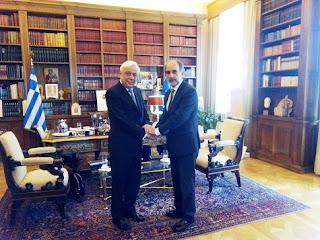 Τον Πρόεδρο της Δημοκρατίας κ. Προκόπη Παυλόπουλο επισκέφθηκε ο Περιφερειάρχης Δυτικής Ελλάδας Απόστολος Κατσιφάρας