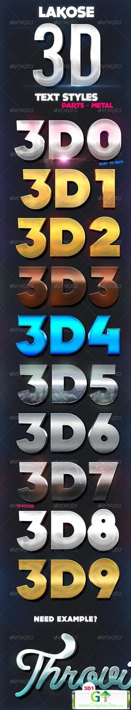 Lakose 3D Text Styles Part 5 8617276