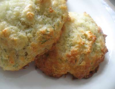 Cheddar Parmesan Scones with Dill