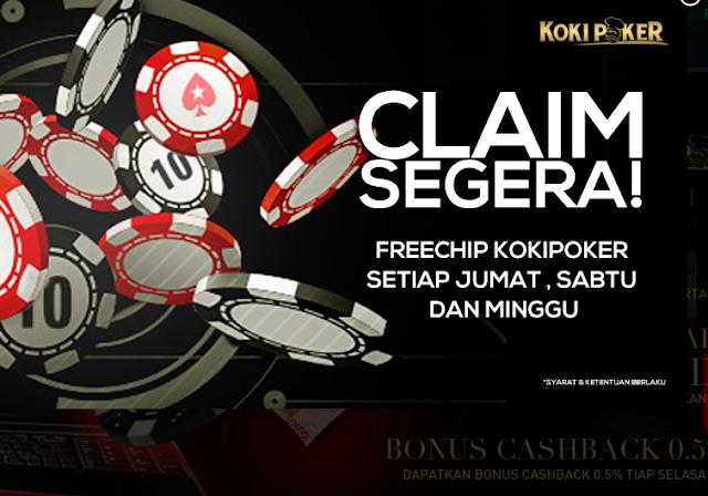 Hasil gambar untuk KokiPoker.com – Freechips Poker Rp 10.000 Setiap Hari Jumat