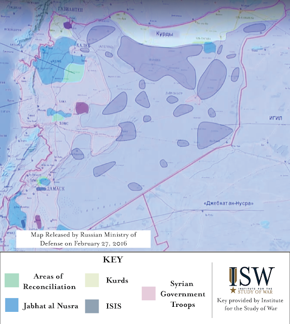 Russian Airstrikes in Syria from February 17 - 28, 2016: Pre and Post Cessation of Hostilities