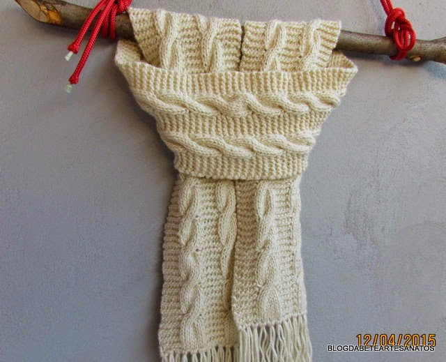 Cachecol em trico