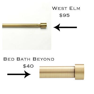 west elm curtain rod gold and bed bath and beyond umbra curtain rod gold