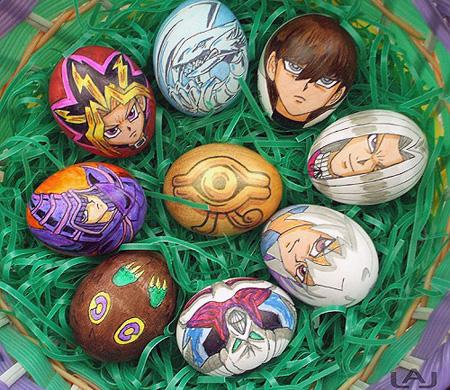 Jajka z bohaterami anime