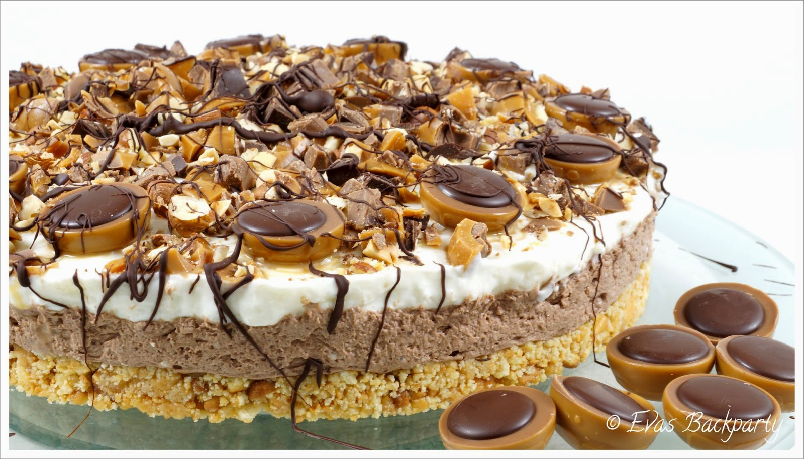 Kinderschokolade Riegel Kuchen Evas Backparty Cremige Toffifee Torte Ohne Zu Backen
