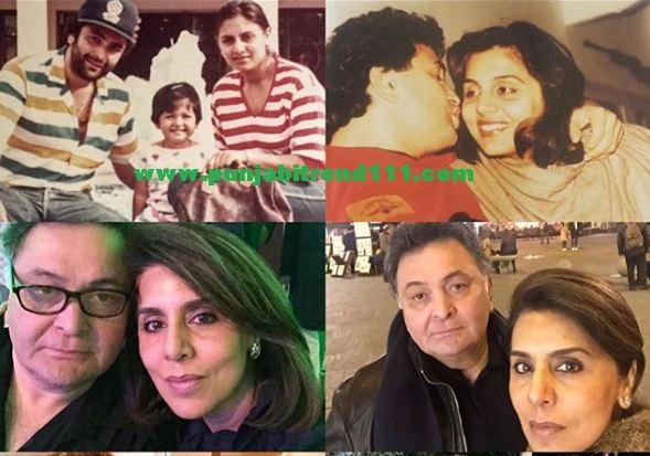 Neetu Singh,Rishi Kapoor,Riddhima Kapoor Sahani,Salgirah