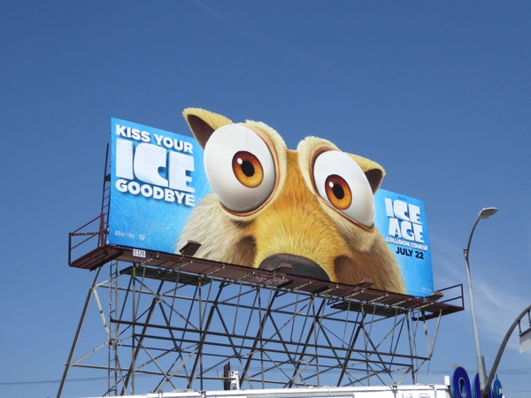 Ice Age Collision Course Scrat special extension cut-out billboard