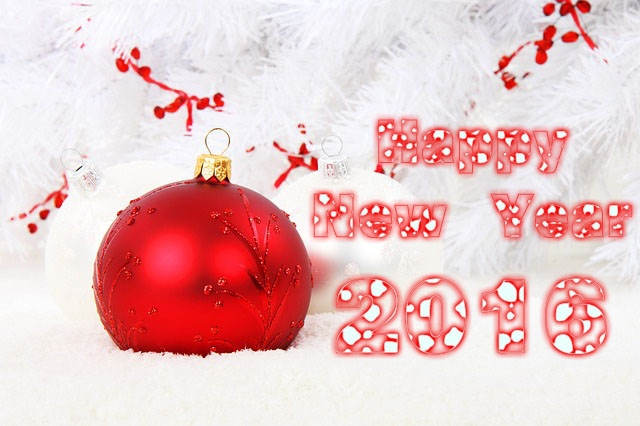 Christmas Snow Ball Happy New Year 2016 Images