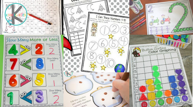 Kindergarten Worksheets for Math