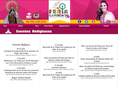 programa religioso feria ciudad del carmen 2016
