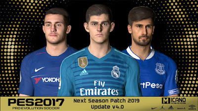 PES 2017 Next Season Patch 2019 Update v4.0 Season 2018/2019
