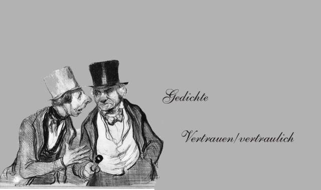 geheimnisvoll sprechende Männer- Vertrauen