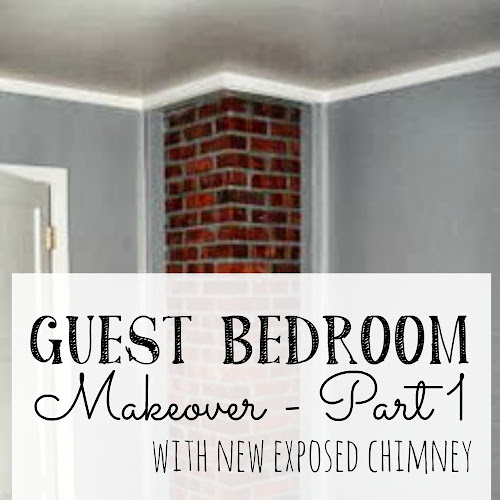 Room Redos - Guest Bedroom With New Exposed Chimney