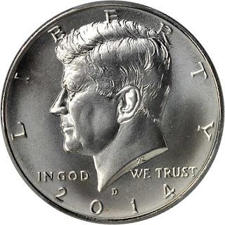 2014 Kennedy Half Dollar Silver Coin